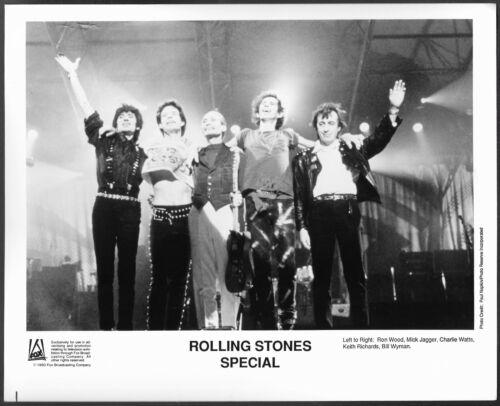 ~ The Rolling Stones Original 1990 TV Promo Photo Mick Jagger Keith Richards