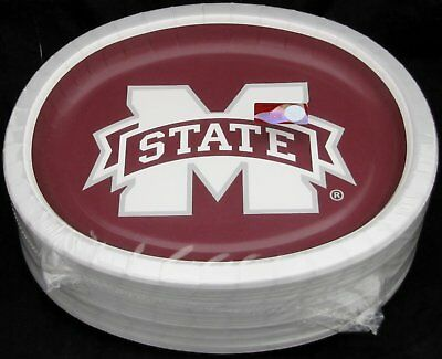 Mississippi State Bulldogs Paper (Mississippi State Bulldogs Performa Paper Plates NCAA Football Party (50 Pack) )
