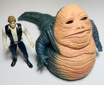 1997 Jabba The Hutt And HAN SOLO STAR WARS action Figures