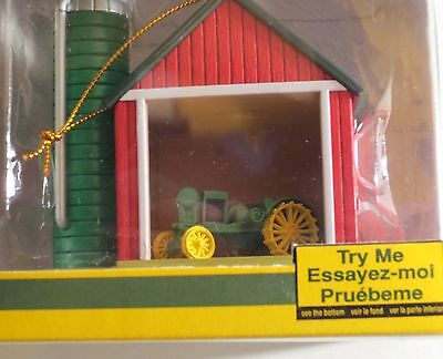 Enesco John Deere Tractor In A Barn Lite Up Ornament MIB NRFB #2