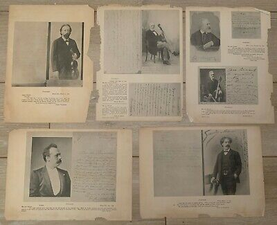 Antique Leandro Bisiach Violin Ads w Fan Letters From Master Violinists w Photos