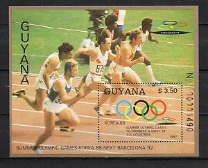 Guyana-1987-Olympic-Games-Seoul-88-Minisheet-MNH