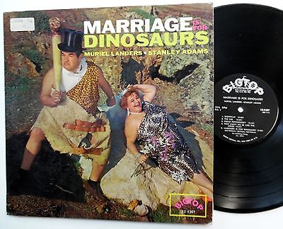 Muriel LANDERS Stanley ADAMS Marriage is for dinosaurs LP comedy VG++ vinyl