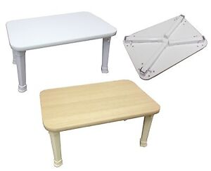 Wooden Coffee Table Multi Purpose Folding Solid Bed Table Cards Games Books Ebay