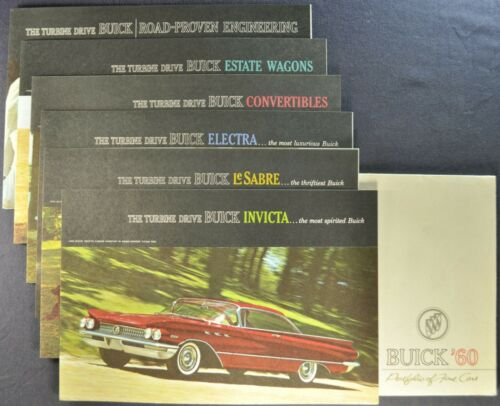1960 Buick Portfolio Brochure Electra LeSabre Invicta Wagon Excellent Original