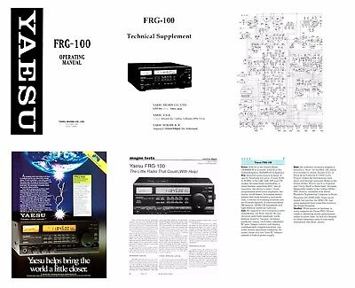 OPERATING MANUAL + SCHEMATIC + DOCUMENTS for the YAESU FRG-100 SHORTWAVE RADIO, used for sale  Fort Lauderdale