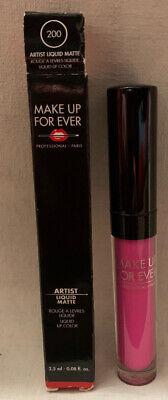 """MAKEUP FOREVER Artist Liquid Matte FULL Sz """"200"""" Lipstick"""