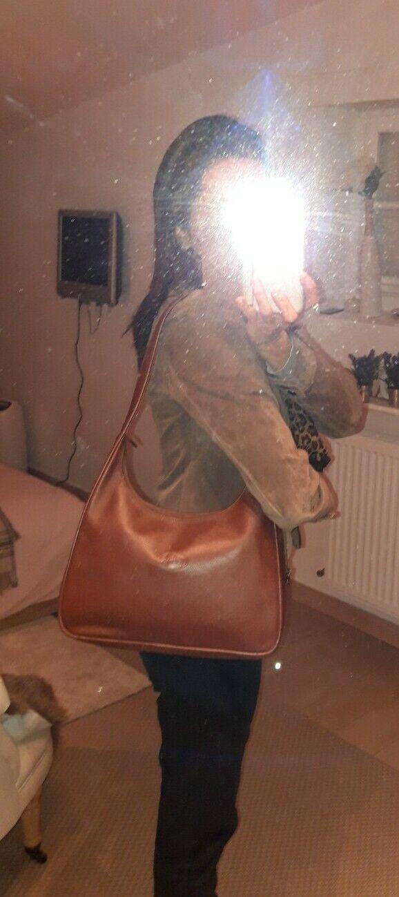***longchamp*** sac en cuir graine marron excel etat