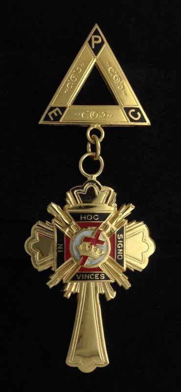 Masonic Templar Past Commander Jewel New S1007-4
