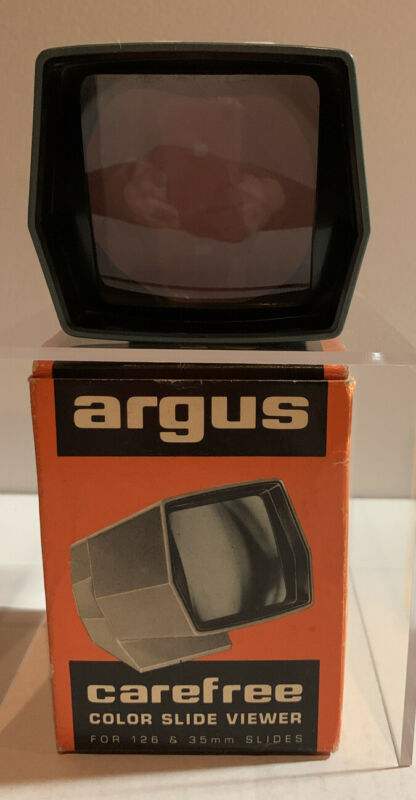 Argus 682 Carefree Color Slide Viewer for 126 & 35 mm Slides with Original Box