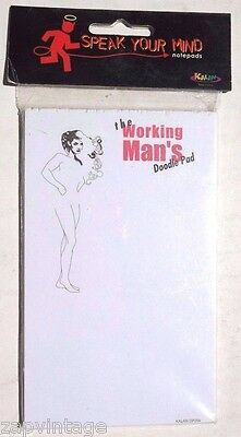 Vtg Female Sexy Doodle Pad For Men Fill In The Fun Gag Gift