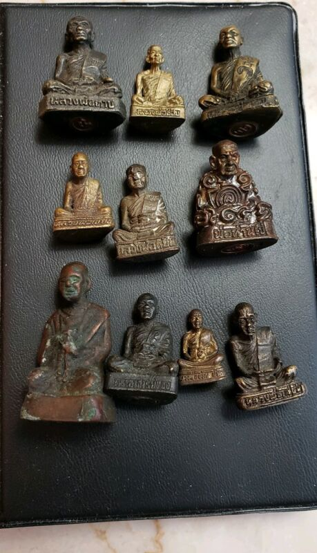 THAILAND BUDDHIST MONK MINIATURES--10 PIECE COLLECTION