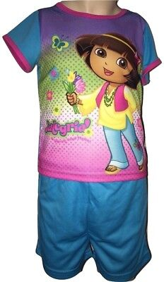 Dora The Explorer Girls Teal Blue 2 Piece Short Sleeve - The Explorer Girls