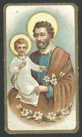 Estampa Antigua De San Jose Andachtsbild Santino Holy Card Santini -  - ebay.es