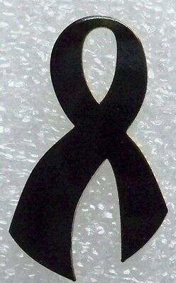 Mourning or Melanoma Cancer Awareness black ribbon pin, made in USA