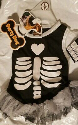 Skeleton Clothes Halloween (Sweet small dog dress clothing skeleton Halloween new with)