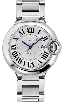 W69012Z4 Brand New Cartier Ballon Bleu Steel 42mm Men's Dress Watch
