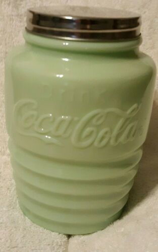 Coca Cola Jadeite Cookie Jar