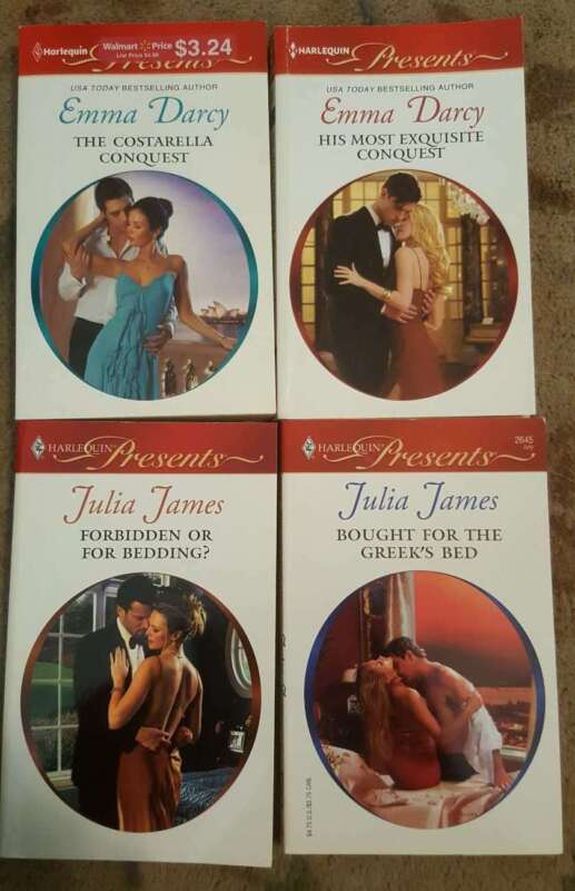 LOT Of 4 HARLEQUIN PRESENTS Romance Novels Paperback