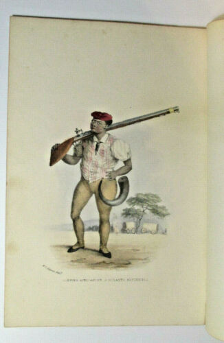 """William Cornwallis Harris """"Andres Africander Hottentot"""" 1852 Africa Lithograph"""
