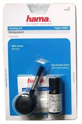 Hama 3er Foto-Reinigungsset, Blasebulg, Spezialreiniger, Optik-Papier/Optik HTMC