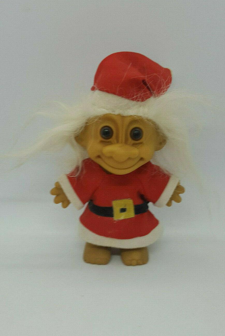 "Vintage Russ 4"" Christmas Troll Doll"