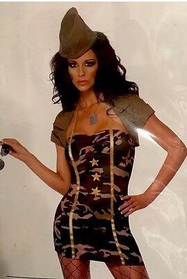 Major Trouble camo costume - womens small - Smiffys Fever 35332 - - Major Costume