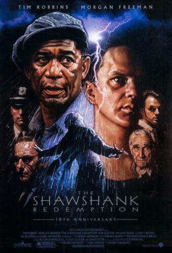 THE SHAWSHANK REDEMPTION MOVIE POSTER DS ORIGINAL 10th Ann. 27x40 DREW STRUZAN