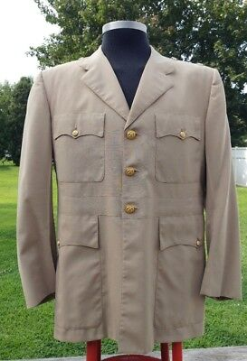 1950s Mens Suits & Sport Coats | 50s Suits & Blazers Men's military jacket suit coat United States Navy Officer estimated 1950's EUC $130.00 AT vintagedancer.com