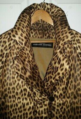 Jean Louis scherrer fourrures quilted padded leopard print jacket coat Large