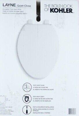 Neu Kohler Layne 30015-0 Quiet-Close Gestreckt Toilettensitz