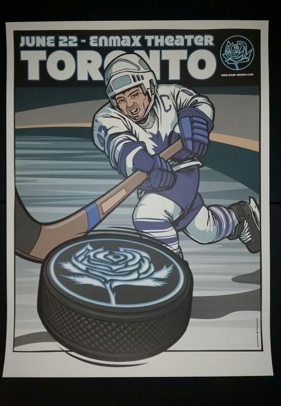 RYAN ADAMS Toronto Canada Numbered 2012 Tour Poster Cardinals Lithograph Hockey
