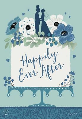 WEDDING HAPPILY EVER AFTER BRIDE AND GROOM HOUSE FLAG 28X40 BANNER FREE SHIPPING