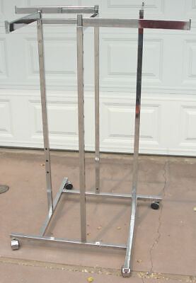 Heavy Duty Retail And Commercial Quality Clothes Clothing Display Rack And Stand