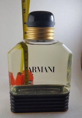 "GIANT Armani Eau Pour Homme Factice Bottle Store Display Dummy 1000 ml 10"" Tall"