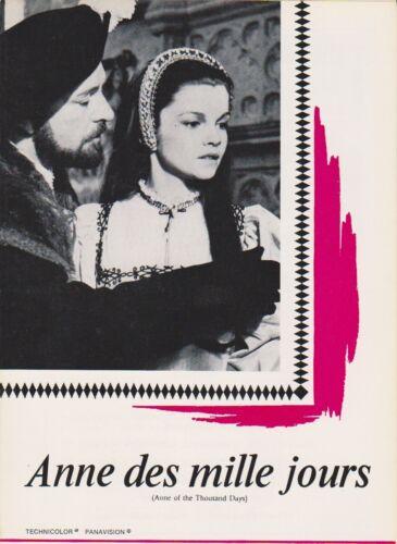 Richard BURTON Geneviève BUJOLD Irene PAPAS  Pressbook ANNE OF THOUSAND DAYS