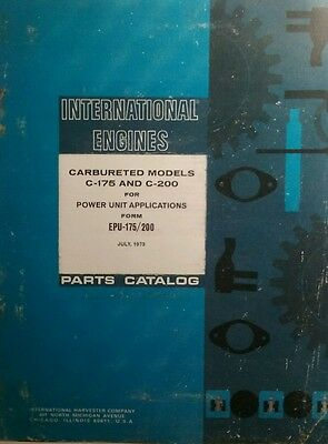 Ih International Engines C-175 C-200 Parts Manual 194pg Tractor Farm Pump Unit