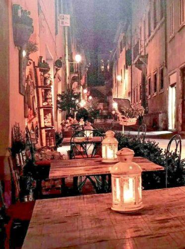 "Old Town Cafe LED Light Up Canvas Print Wall Art Decor 24x32"" ZENDA IMPORTS"