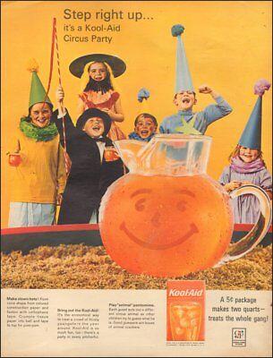 Vintage ad for Kool-aid Orange drink Pitcher Costumes Halloween   (080118) (Orange Drinks For Halloween)