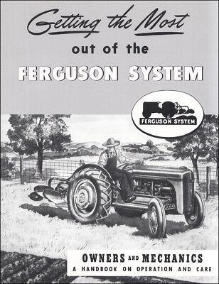 Ford Tractor Ferguson Hitch Implement Manual 2n 9n 8n Plow Disc Harrow