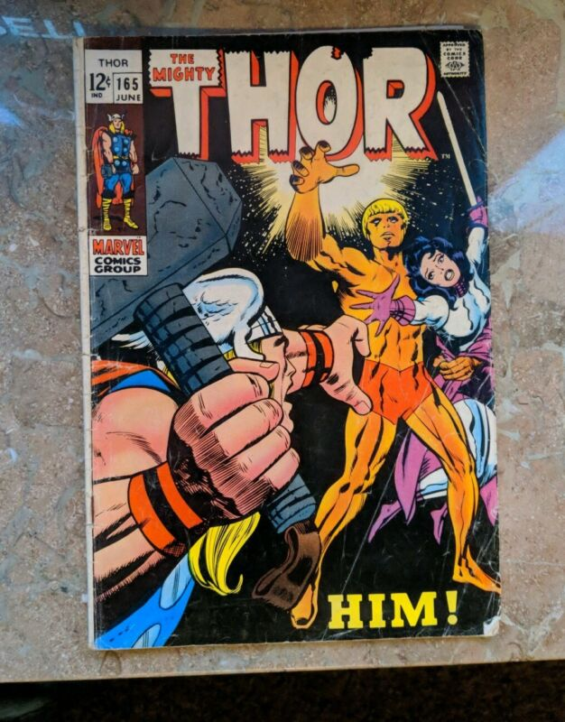 Marvel Comics Thor # 165 First Appearance of HIM 1969 Vintage Old Comic Book