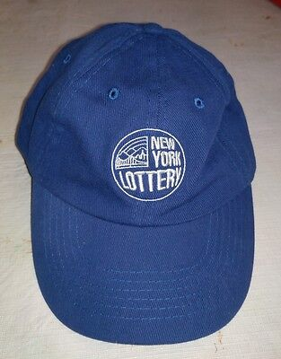 Vintage New York Lottery Casual Trucker Hat Mens One Size Fits All  Navy Blue W