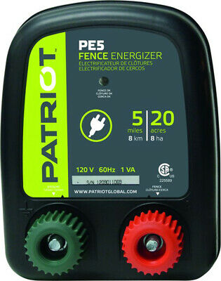 Patriot PE5 Fence Charger/Energizer 5 Mile 20 Acre ~110 a/c