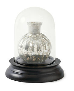 Vintage Extra Small Glass Dome Bell Jar With Wooden Base - SECOND