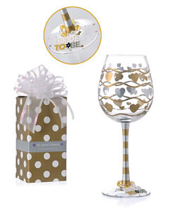 vintage to be wedding wine glass