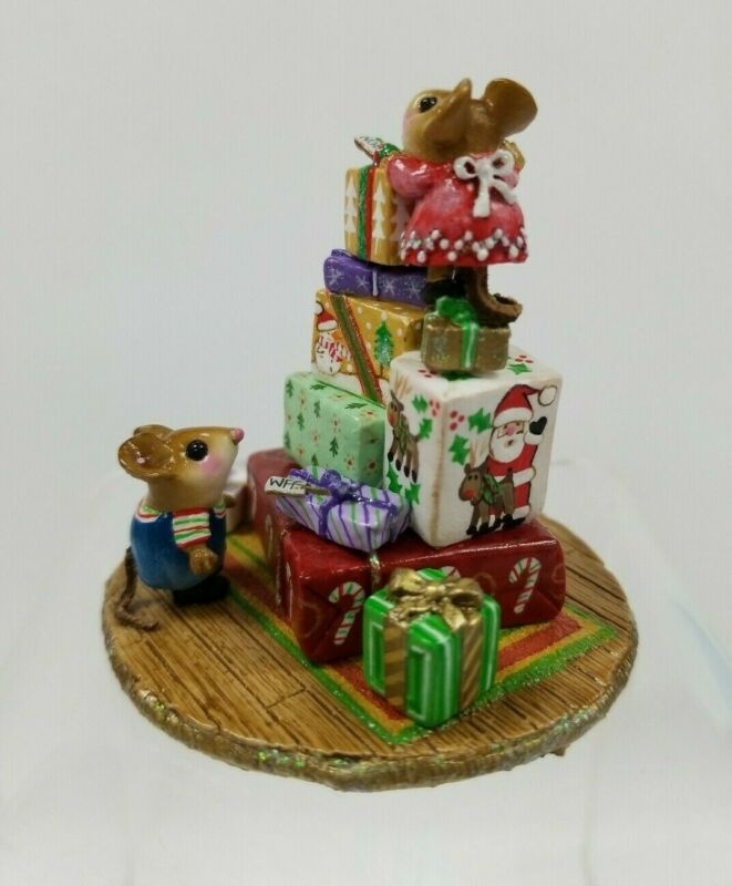 Wee Forest Folk M-311f Packages Galore & More Christmas LE 2013 Peterson Family