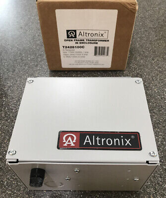 Altronix T2428100c Outdoor Cctv Security Ac Open Frame Transformer In Enclosure