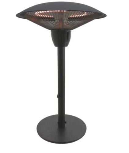 1,500 Watt Tabletop Electric Outdoor Patio Heater Fire Sense