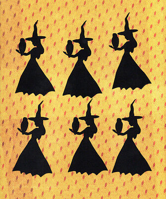 Quickutz Halloween Witches & Owl Silhouette Die Cut Embellishments Sizzix