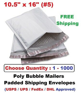5 10.5x16 Poly Bubble Mailers Padded Shipping Envelope 1 5 10 20 25 50 100 1000